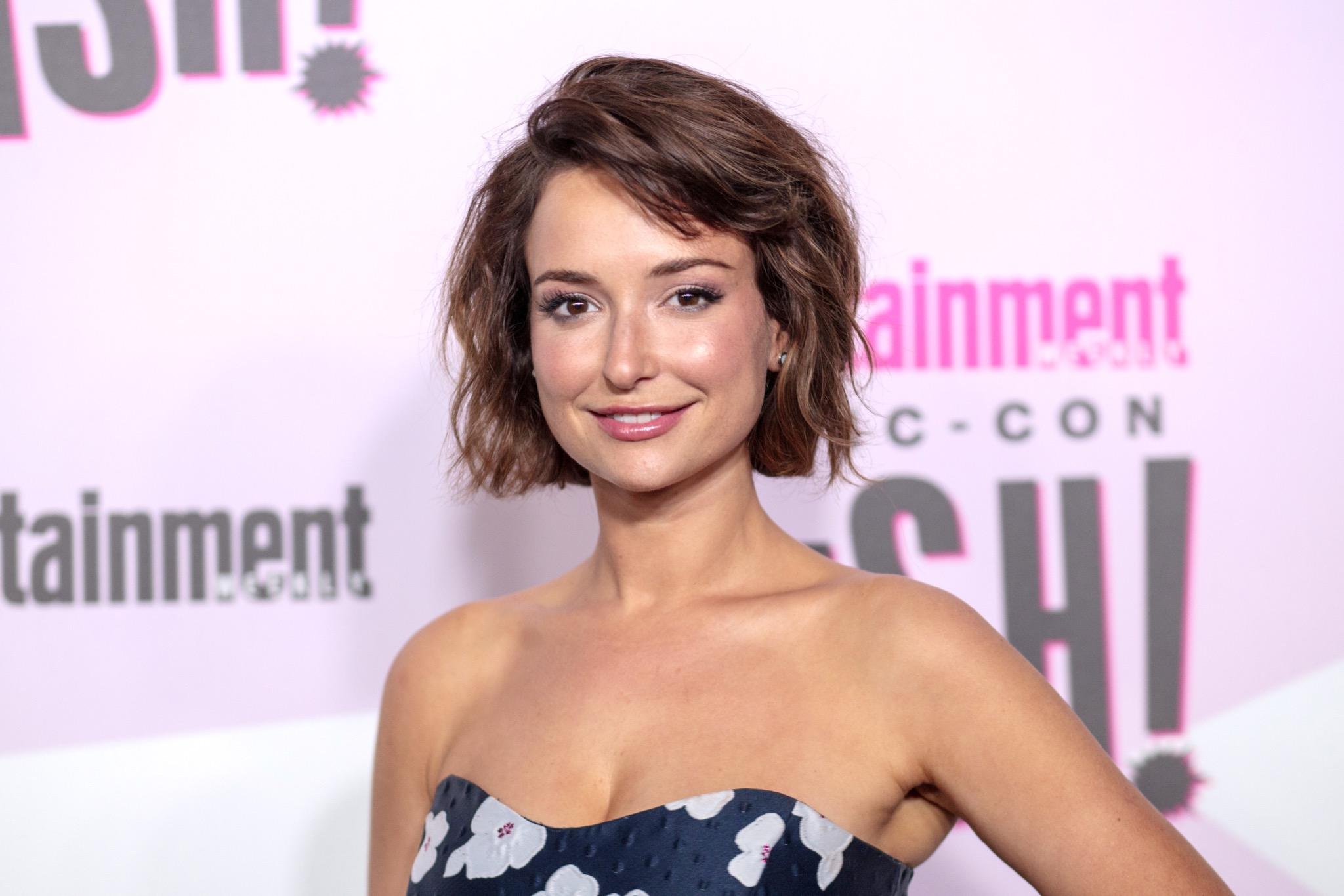 2018 San Diego Comic Con - Entertainment Weekly's closing night party - Arrivals Featuring: Milana Vayntrub Where: San Diego, California, United States When: 22 Jul 2018 Credit: Tony Forte/WENN