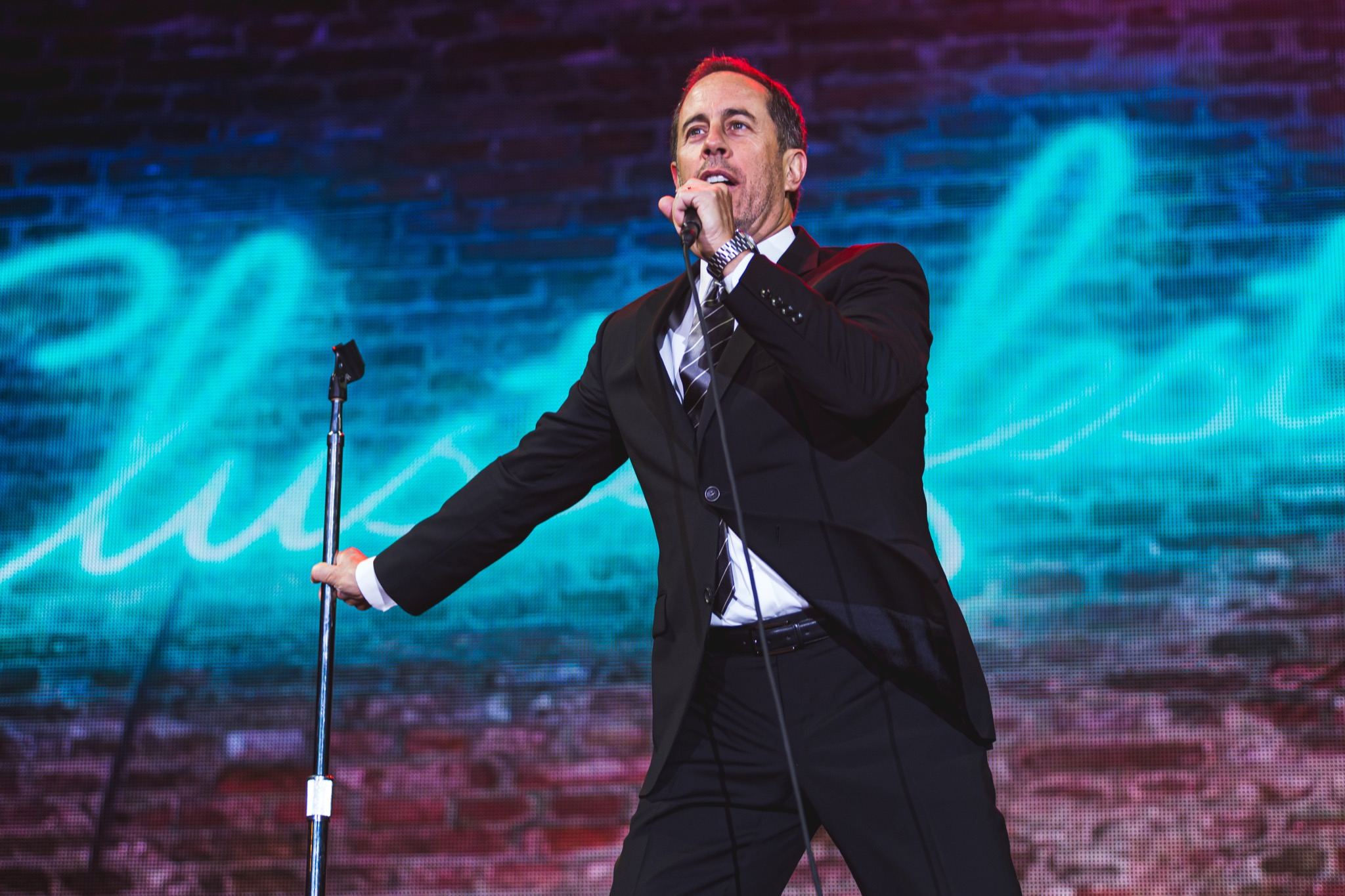 Comedian Jerry Seinfeld performs at Clusterfest