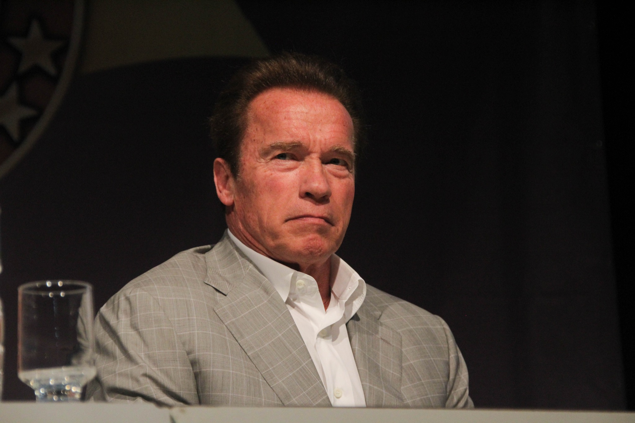 It's absolutely Arnold, at a conference just being himself