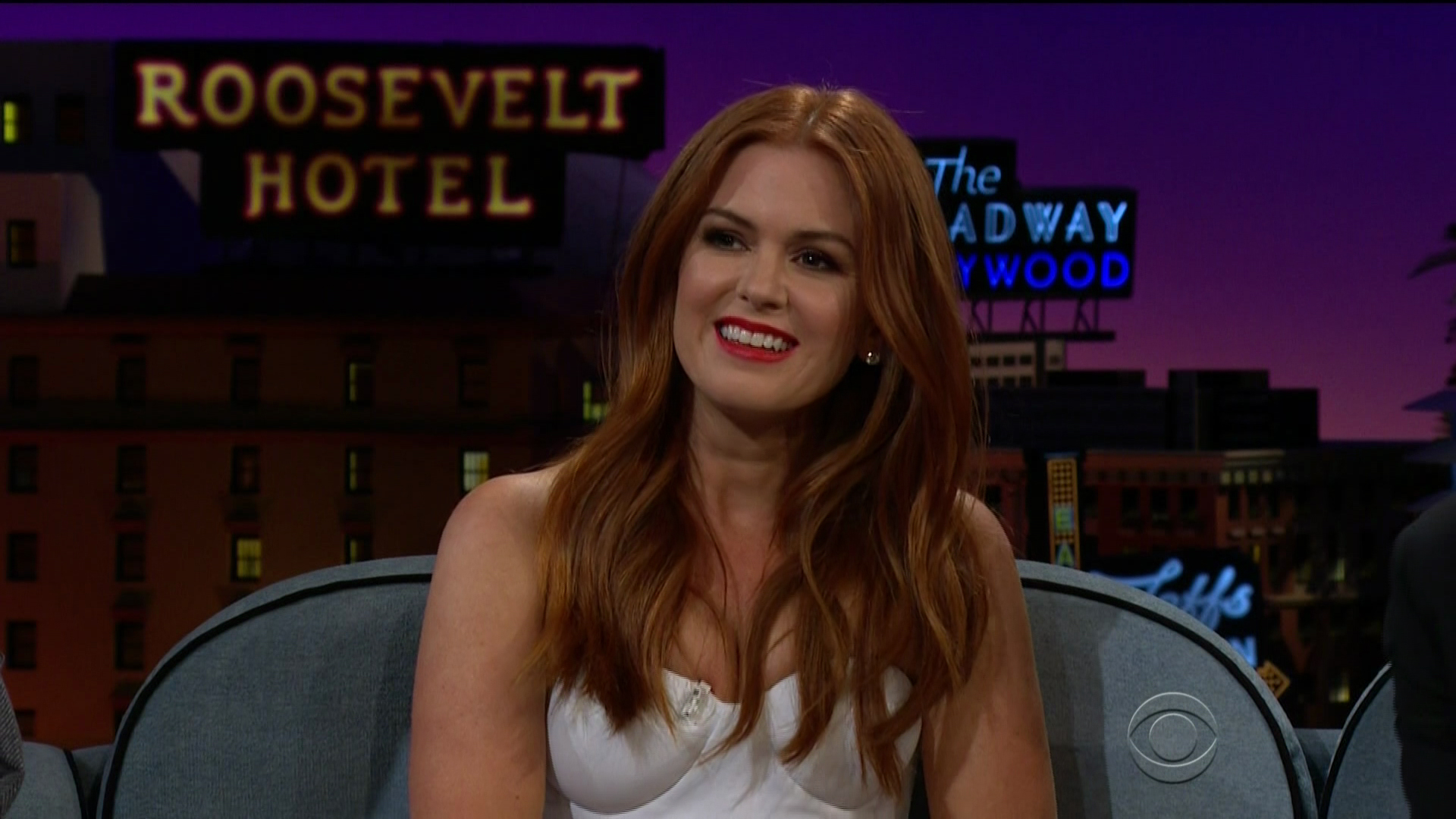 Isla Fisher and Jeremy Renner during an appearance on CBS' 'The Late Late Show with James Corden.' Featuring: Isla Fisher Where: United States When: 14 Jun 2018 Credit: Supplied by WENN.com **WENN does not claim any ownership including but not limited to Copyright, License in attached material. Fees charged by WENN are for WENN's services only, do not, nor are they intended to, convey to the user any ownership of Copyright, License in material. By publishing this material you expressly agree to indemnify, to hold WENN, its directors, shareholders, employees harmless from any loss, claims, damages, demands, expenses (including legal fees), any causes of action, allegation against WENN arising out of, connected in any way with publication of the material.**