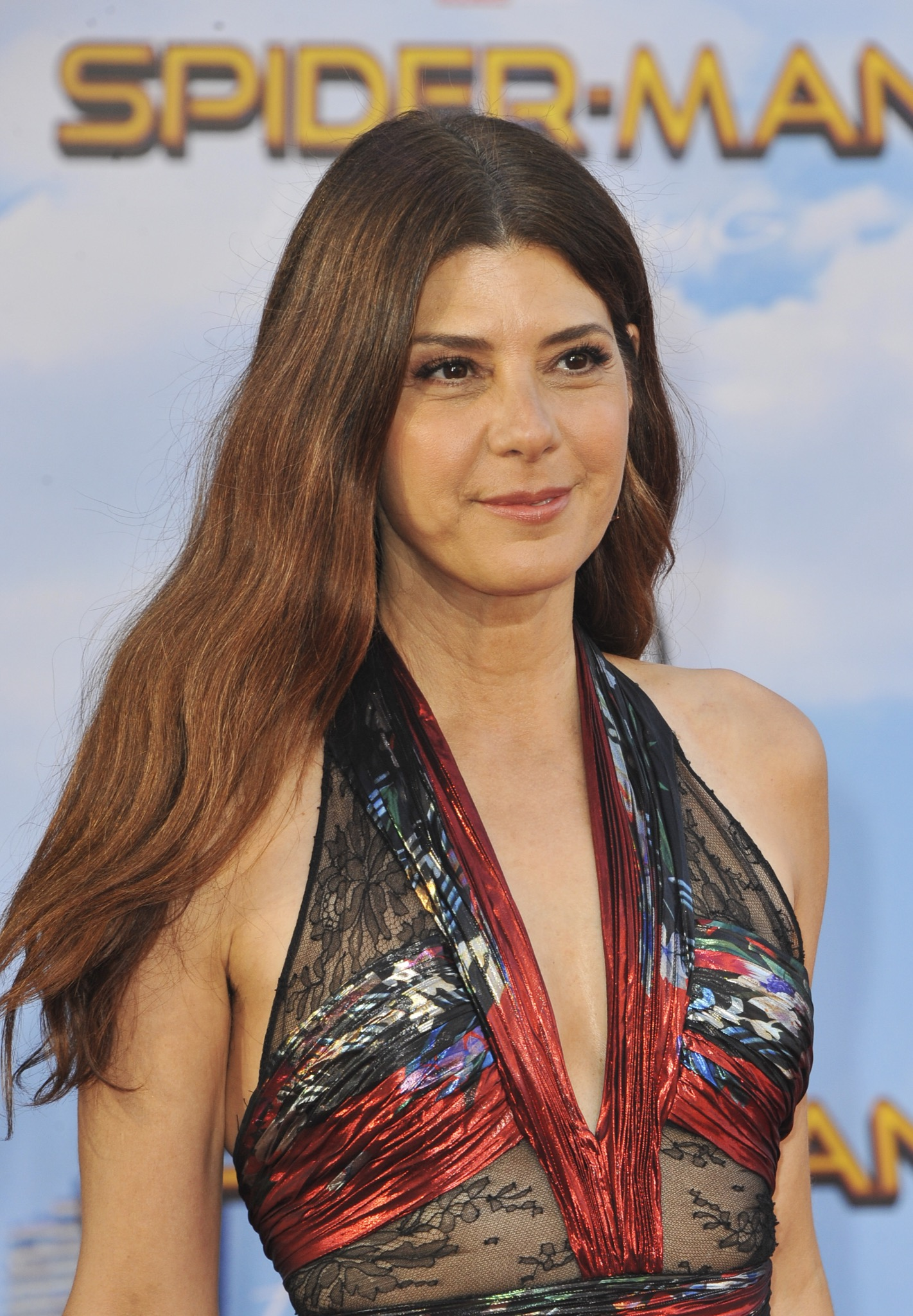 marisa tomei at Los Angeles premiere of 'Spider-Man: Homecoming'