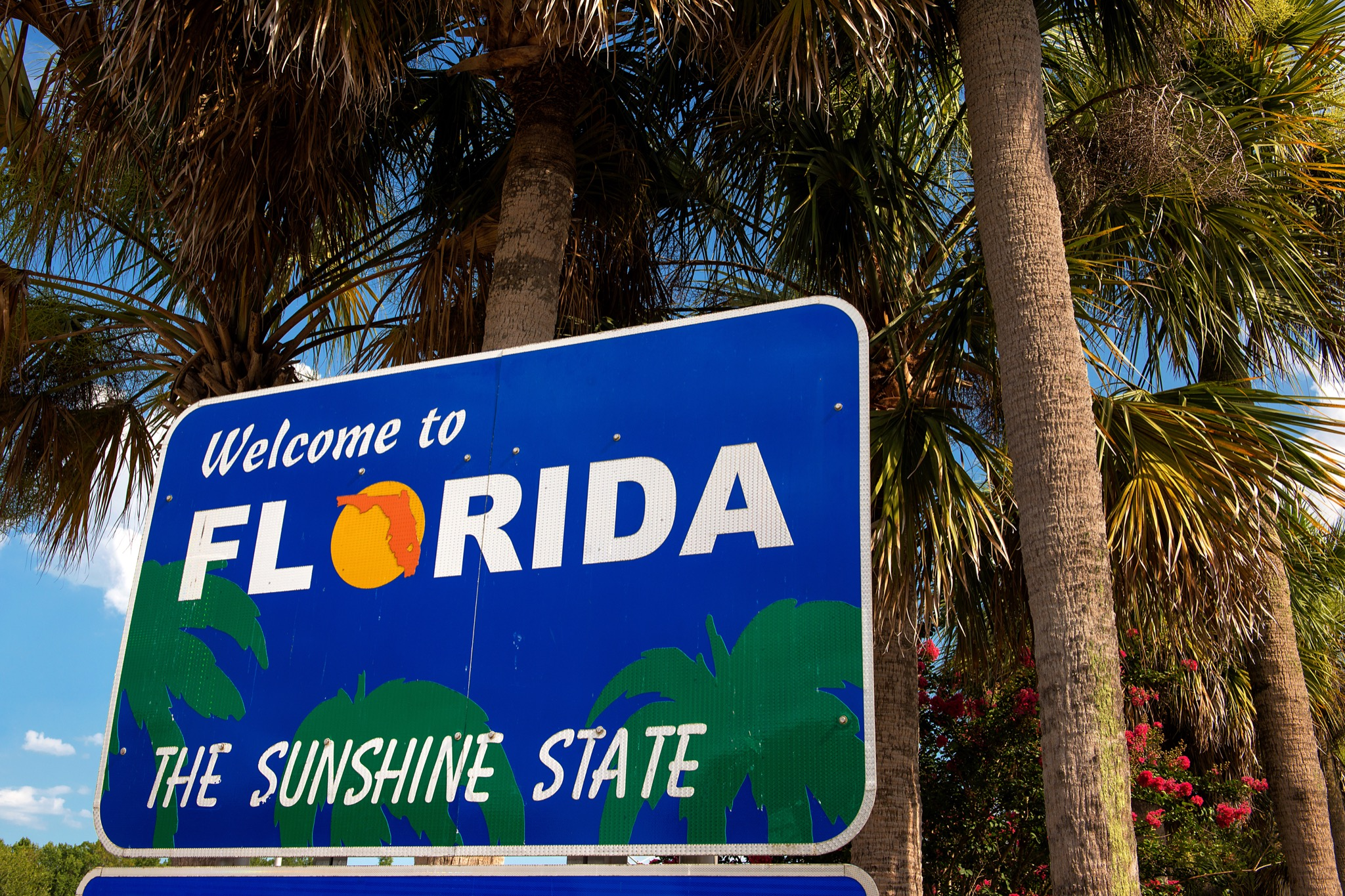 """""""Welcome to Florida"""" sign (The Sunshine State) - Image"""
