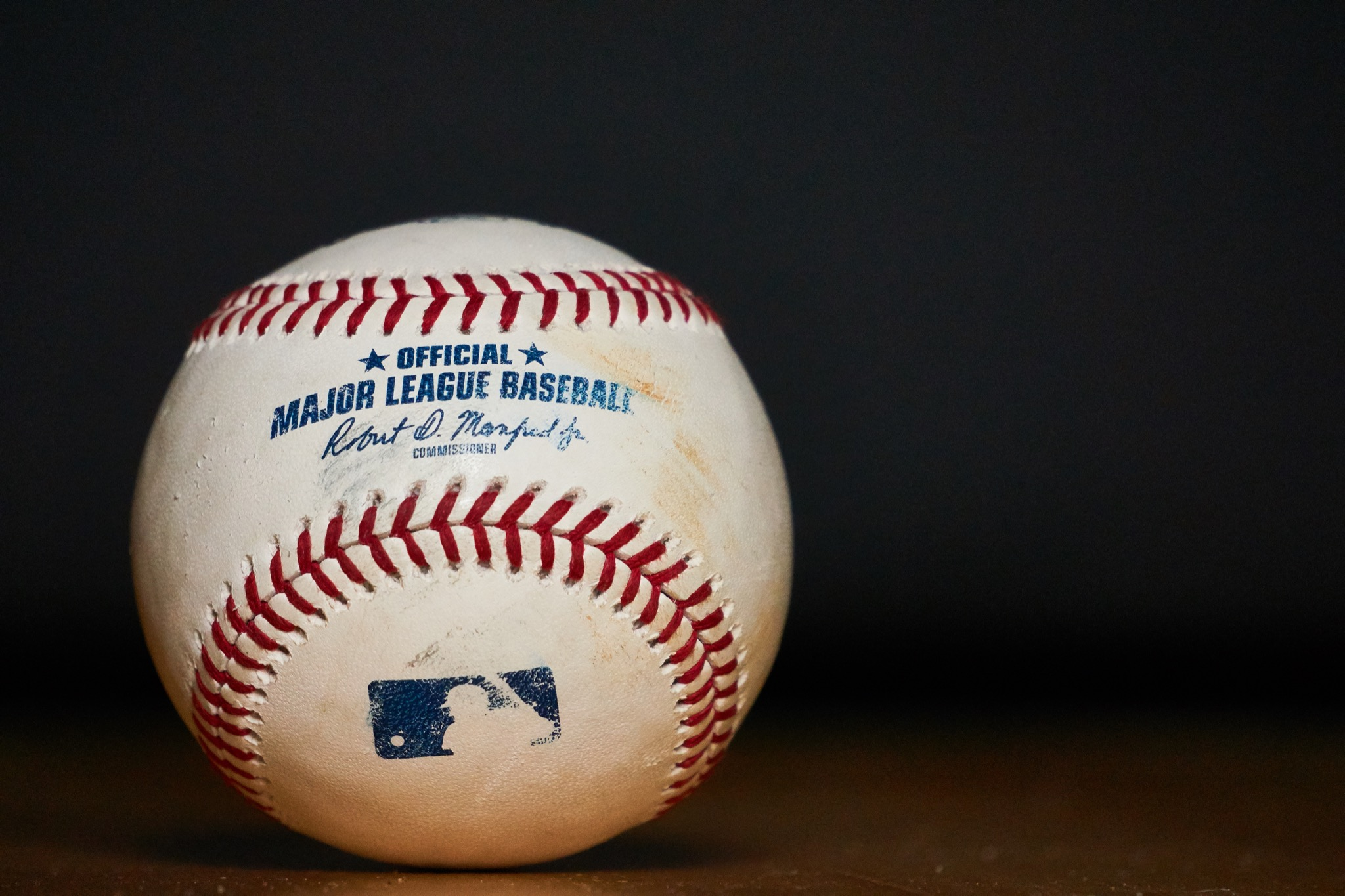 South Tyrol, Italy - May 20 2019: Used Major League Baseball (MLB) Baseball