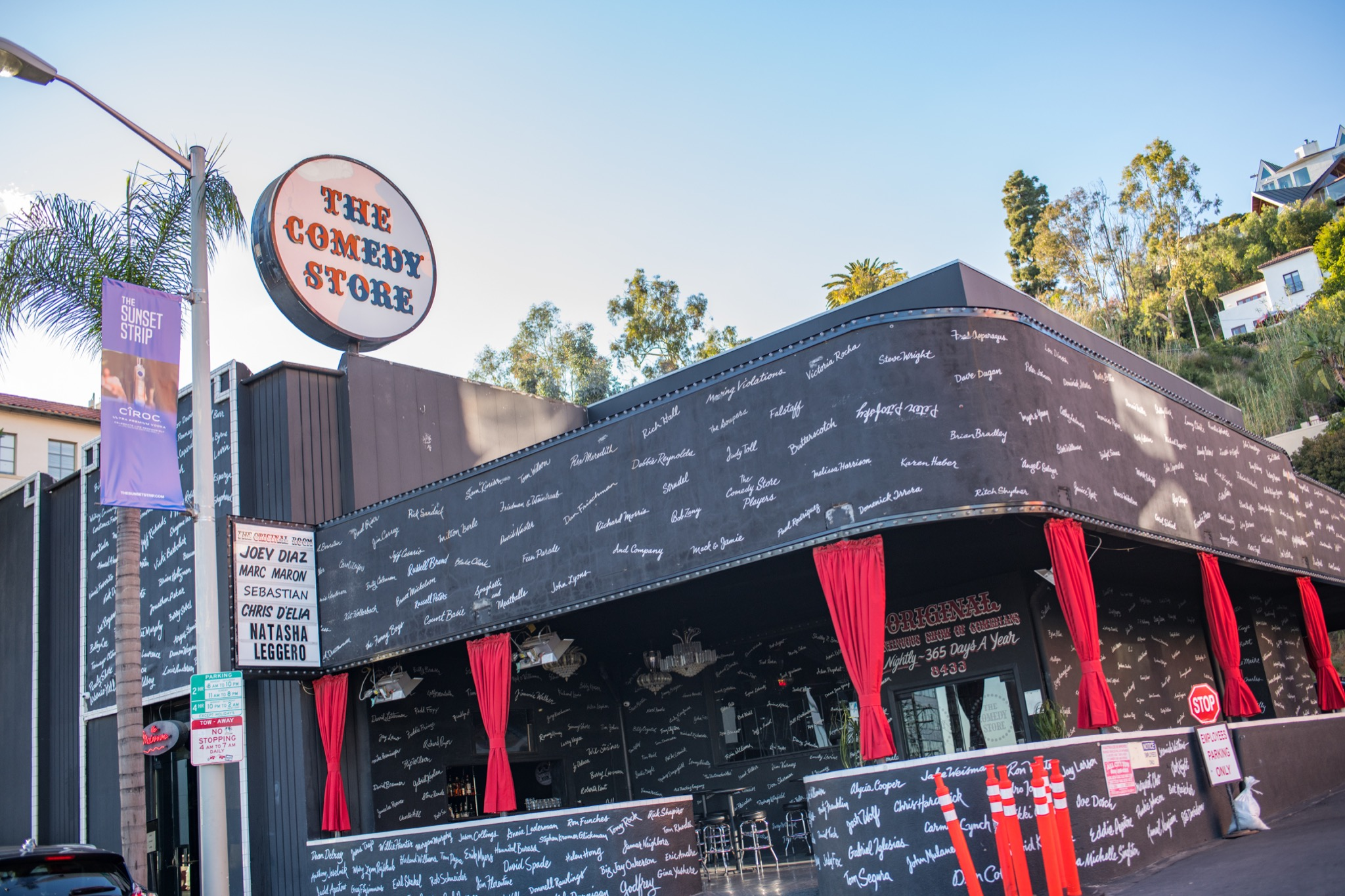 Los Angeles, CA: March 15, 2018: The Comedy Store in Los Angeles. Many famous comedians have performed at The Comedy Store.