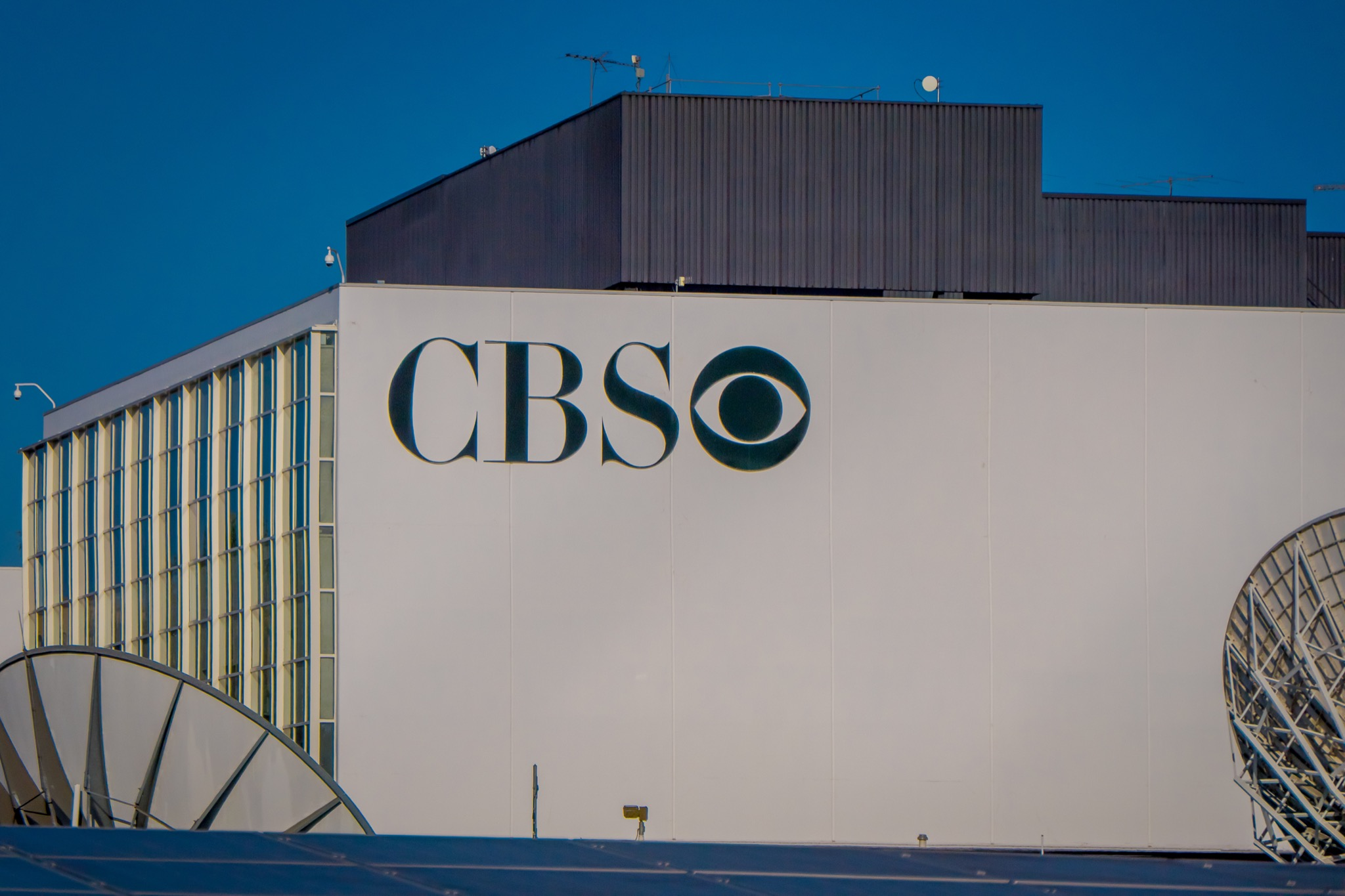Los Angeles, California, USA, AUGUST, 20, 2018: CBS logo on a building in Los Angeles, California