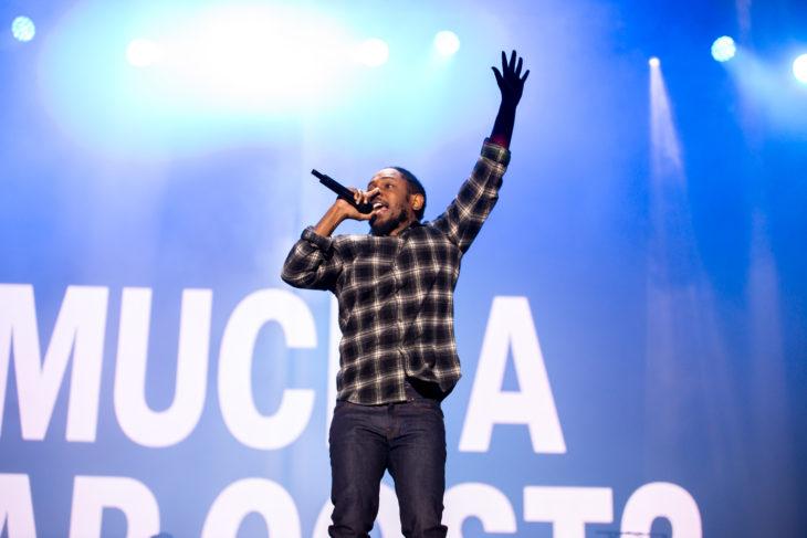 Kendrick Lamar performing