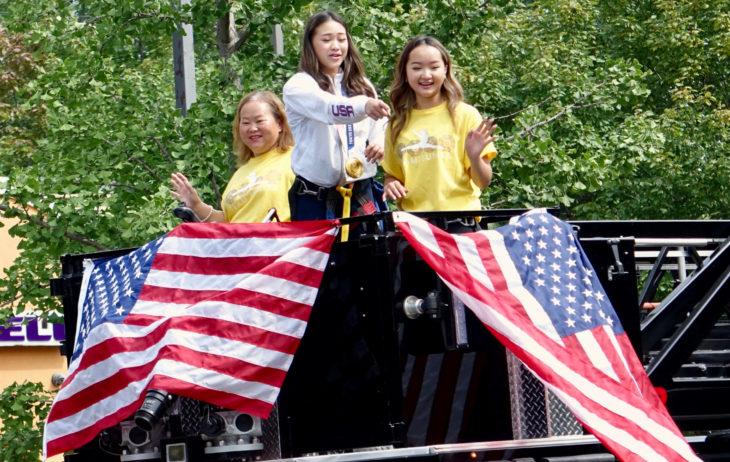 Saint Paul, MN USA - August 8 2021: Saint Paul Parade for Gold Medalist Suni Lee